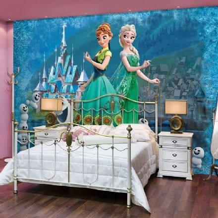 Wallpaper mural Elsa & Anna Frozen Disney